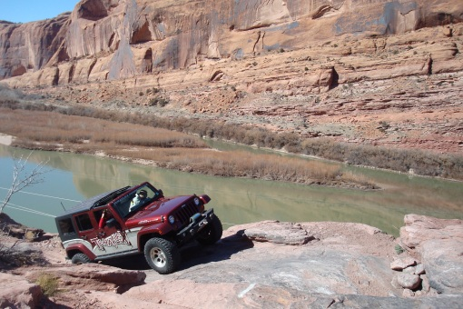 I didn't like getting too close to the edge! (Colorado River below)
