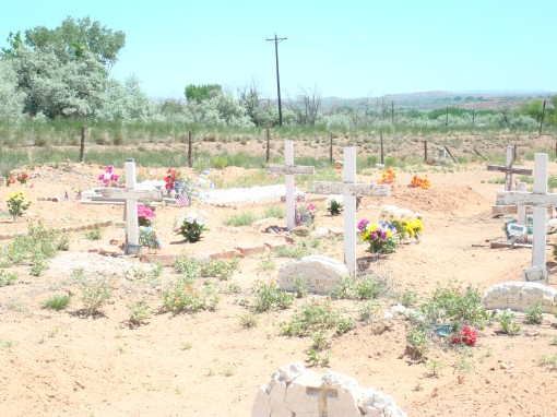 One view of the graveyard.