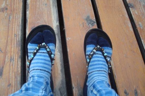 My stylin' cabin footwear!