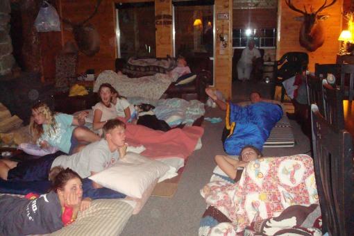 Cousins NOT sleeping.